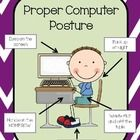 Need a quick and easy way to assess your students' posture when using the computer? Download this free tool and get started!  Set includes a free 8...