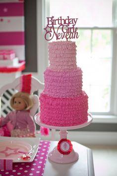 american girl doll birthday cakes | Inspired American Girl Doll Birthday Party - Anders Ruff