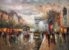 Paris, oil painting from 129$