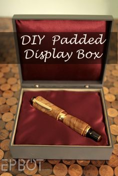 DIY Padded Display Box by Jen Yates.  I have so many of these unused cool boxes, this is a great idea!!