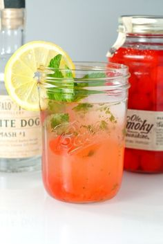 Moonshine Lemonade with Cherries & Mint | Perfect for summer? We think so.