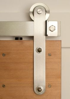 Rolling Barn Door Hardware Kit Stainless Steel Top Mount for Wood