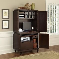 Bermuda Compact Computer Cabinet and Hutch   Overstock.com Shopping - Great Deals on Desks