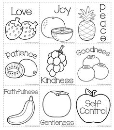 Preschool bible lesson coloring pages ~ Printables for Fruit of the Spirit Devotional | Worksheets ...