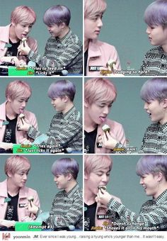 Jimin and his immature Jin hyung