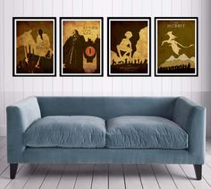 :  The Lord of the Rings Poster Sets. $50.00, via Etsy.