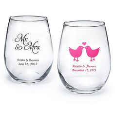 personalized stemless wine glass abulk discount great wedding