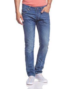 JACK & JONES Herren Slim Jeans TIM ORIGINAL AT 200 NOOS, Gr. W34/L34, Blau (Medium Blue Denim)