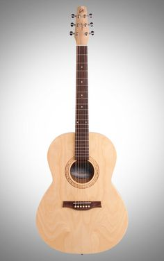Seagull Excursion Natural Folk SG Acoustic Guitar: Made with a Canadian wild cherry top, back, and sides and semi-gloss finish, the Excursion Natural Folk SG is one good-looking acoustic guitar. #acoustic #SeagullGuitars