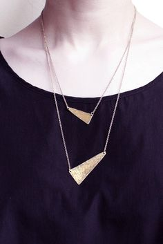 Points Hammered Brass Layered Necklace : http://www.youngfrankk.com/collections/necklaces/products/points-hammered-brass-layered-necklace#