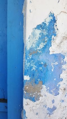 Textured, blue and peeling paint. Chanoud, Rajasthan, India. Katiesargentdesign.com Interior Design Studio, Interior Design Services, Peeling Paint, Rajasthan India, October, Texture, Landscape, Projects, Blue