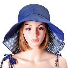 Women Summer Foldable Floppy Hat Anti-uv Beach Hats Casual Traveling Wide  Brim Visor Bucket cfe9118bd3f8