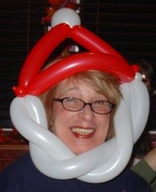 Image result for twisty balloon santa