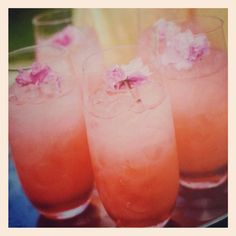 Wedding Drinks: 6 Delicious Signature Cocktails For Spring, including the Sherry Blossom from #WPCatering. #wedding