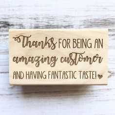 Items similar to Thanks for Being an Amazing Customer and Having Fantastic Taste Rubber Stamp- Thank you stamp on Etsy Etsy Business, Craft Business, Business Ideas, Small Business Quotes, Business Names, Thank You Card Design, Thank You Quotes, Thank You Customers Quotes, Business Thank You Cards