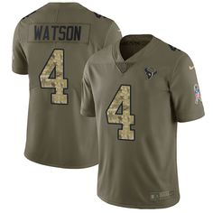 Nike Houston Texans Youth  4 Deshaun Watson Limited Olive Camo 2017 Salute  to Service 9ebe151e5