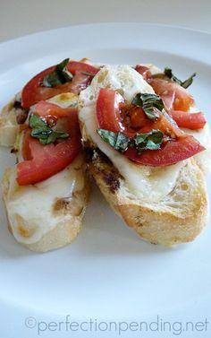 Baguette Bites-- A Simple & Light Dinner Idea For Summer