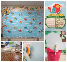 Sunny Days in Second Grade: Boho Birds Bulletin Boards!