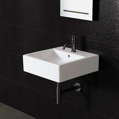 Bissonnet Area Boutique Ice Medium Square Ceramic Bathroom Sink | AllModern