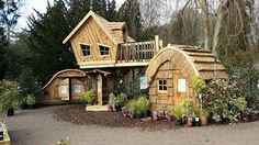 Wooden Tree House Playhouse | Bespoke Wooden Playhouses - Enchanted Creations Playhouses ...
