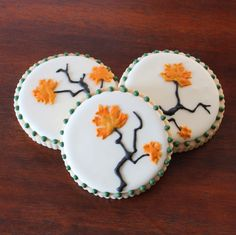 Maple leaf cookies for autumn.
