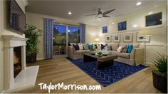 This living room is from Campanilla in our Southern California division homes.