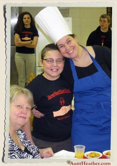 Mom, Kyle & me at the St. Valentine's Day Pancake Breakfast at Sacred Heart. We took a few minutes to visit with mom & dad. 2/10/13 #AuntHeather