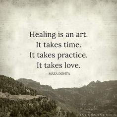 Healing is an art