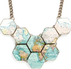 Back in Stock!!  Map statement necklace http://rstyle.me/n/m8tsunyg6