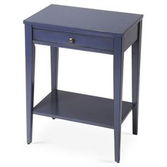 """Check out this item at One Kings Lane! 15"""" Edward Nightstand, Blue"""