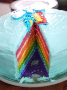"Rainbow ""Rainbow Dash"" Cake"