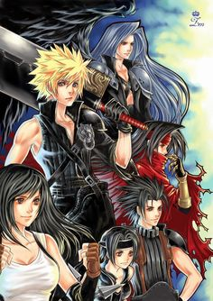 An FFVII poster without Aerith. I love it! Zen - final fantasy VII poster by *siguredo