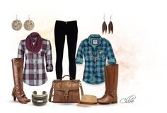 """Plaid or Plaid....?"" by chloe-813 on Polyvore...minus the hat"
