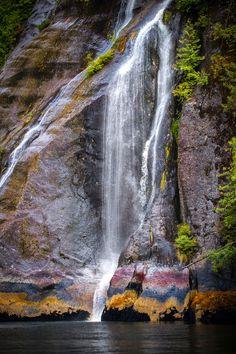 Misty Fjords Waterfall, National Monument, Alaska by Scott Marx on Alaska Travel, Alaska Cruise, Beautiful Places To Visit, Beautiful World, Places To Travel, Places To Go, North To Alaska, Alaska Usa, Scenery Photography