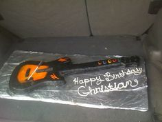 Guitar Hero Cake, same size as actual guitar.  The only thing not edible was the whammy bar.