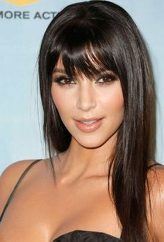 Hairstyles with Bangs for Round Faces | long haircuts with bangs for round faces. Bangs for round face shapes