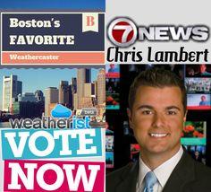 Vote @clamberton7 @7News in the 2014 Boston's Favorite Weathercaster Survey @ http://bit.ly/bosfav