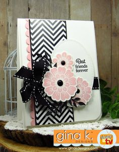 Bold and Blooming StampTV Kit from Gina K. Designs.  Card by Sheri Gilson.  Features the Bold and Blooming stamp set.  www.shop.ginakdesigns.com
