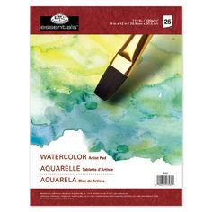 Shop for Essentials Watercolor Artist Paper Pad Sheets - 25 sheets. Get free delivery On EVERYTHING* Overstock - Your Online Scrapbooking Shop! Watercolor Pencils, Watercolor Paper, Art Pad, Art Supply Stores, Drawing Letters, Online Drawing, Paper Artist, Ms Gs, Painted Paper