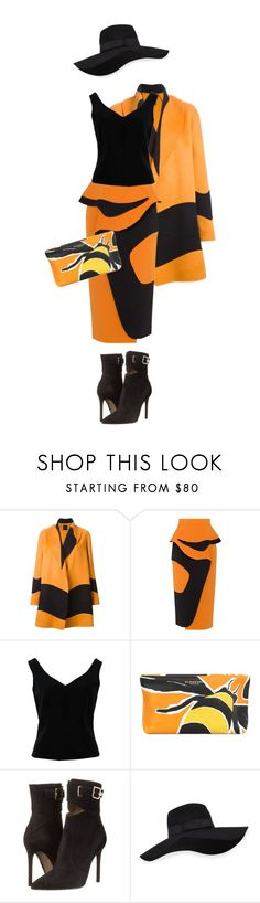 """""""Autumn Bee"""" by sagramora ❤ liked on Polyvore featuring Agnona, Roksanda, ADAM, Burberry, Versace and San Diego Hat Co."""