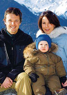 Crown Prince Frederick and Crown Princess Mary with Prince Christian 2007