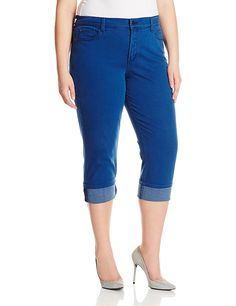 NYDJ Women's Plus-Size Dayla Wide Cuffed Capri Jeans In Rayon Indigo Denim *** Find out more details by clicking the image : Plus size jeans