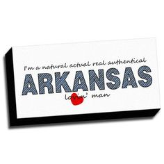 Picture it on Canvas 'Arkansas Slogan Quotes' Textual Art on Canvas