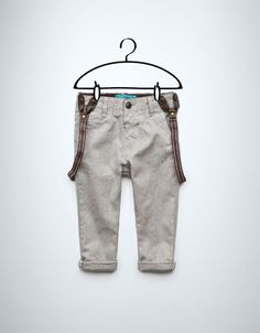 oxford trousers with braces - Trousers - Baby boy (3-36 months) - Kids - New collection - ZARA United States