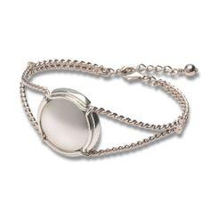 Silver Champagne capsule bracelet