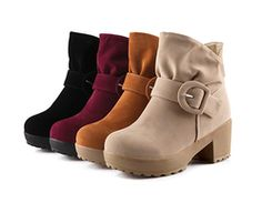Womens Cute Trendy Ankle Strap Boots