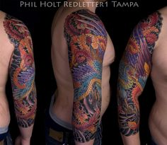 sleeve tattoo 119 Japanese Pheonix Sleeve Tattoo