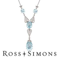 C. 1990 Vintage 38.00ct t.w. Aquamarine, 1.25ct t.w. Diamond Chandelier Drop Necklace {Breath taking}