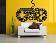 Wall Room Decor Art Vinyl Sticker Mural Decal Console Game Controller Big AS1717 #FDC3M