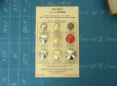 ButtonShop.ca - industrial vintage salesman sample from handy button machine company in chicago